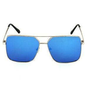 Other - Mirror Lens Square Flat Aviator Sunglasses